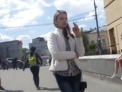 smoking fetish candid girl #319
