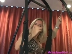 Lisa Berlin plays with a mad large toy and her Sex Pig