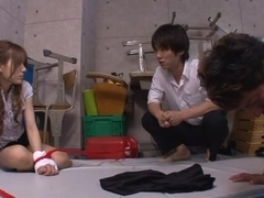 Japanese milf Rio is a sexy teacher tied up in class