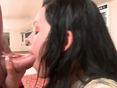 Hot ass Angelina Stoli sucks muscled stud in pov