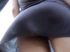 Cute perfect bubble butts caught on voyeur upskirt videos