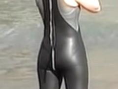 Candid camera ass spied by the beach voyeur hunter 06zj