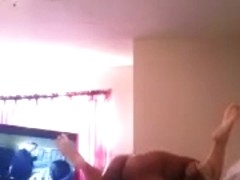 My buddy tearing the Latina pussy up