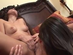 Fabulous pornstars Celeste Star and Georgia Jones in crazy small tits, cunnilingus sex clip