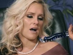 Alena Croft is embarrassed by Kirstens dick sucking skills