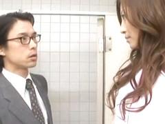 Amazing Japanese girl Leila Aisaki in Hottest Handjobs, Public JAV movie