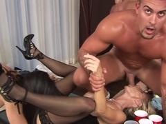 Horny pornstars Stephanie Wylde, Melody Posh and Tatiana Kushnev in incredible brazilian, lingerie.