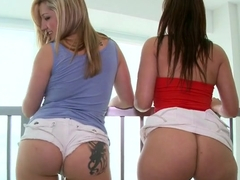 Pussy banging for Penelope Tyler and Dayna Vendetta