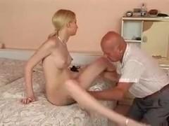 Skinny German Girl With Old Men