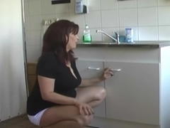 Fucking a milf in the bathroom