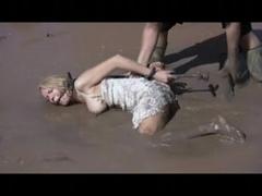 Outdoor SADOMASOCHISM Mud Thrall Disgrace