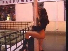 Karen Lancaume bare on the street having sex