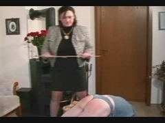 Granny Thongs and Spanks the Fellow pt2