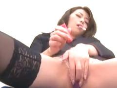 Amazing Japanese slut Maki Hojo in Fabulous Masturbation/Onanii JAV video