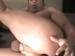 Sexy gay anal toy play