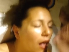 Amateur cougar porn shows me jerking my wang over the face of my honey. I give her a massive facia.