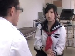 Kinky Asian teen gets fingered in spy cam medical video