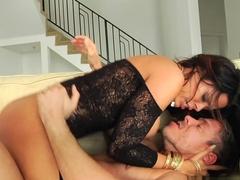 Horny pornstars Erik Everhard, Mandy Muse, Mick Blue in Crazy Latina, Big Tits adult scene