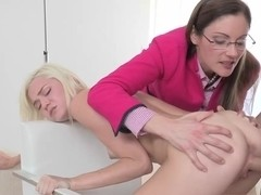young blonde and hot milf