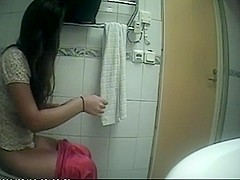Horny amateur record with voyeur, brunette, solo scenes