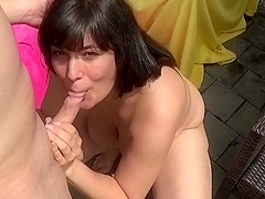 Fat milf sucks rod and shags with her amateur boyfriend