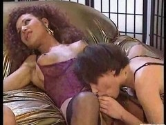 Group sex with a passionate Tgirl