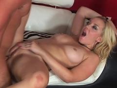 Annette Schwarz gets her tight pussy broken