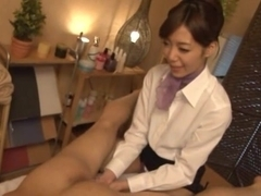 Shizuka Kanno Asian office lady gets anal in the breakroom