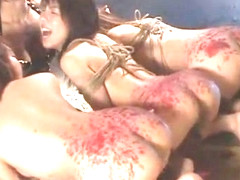 Crazy Japanese model Miki Karasawa, Misaki Asoh, Sakura Sakurada in Hottest BDSM, Lesbian/Rezubian.