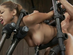 Angel CummingsHot, dark, 19yr old bound and getting fucked!