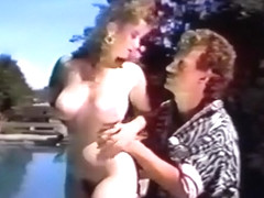 Jeanna Fine gives poolside BJ