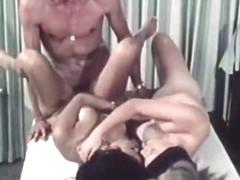 Horny vintage scene with Lynn Holmes and John Holmes