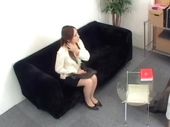 Nice looking Jap slammed hard in voyeur Japanese sex video