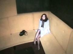 Stretched legs on voyeur camera