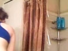 20 something MILF before shower