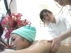Incredible Japanese girl Emiko Koike, Shinobu Terasawa, Natsuki Ando in Crazy Threesomes, Fingerin.