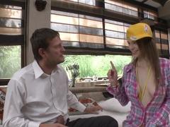 Best pornstar Beata Undine in Horny College, Threesomes porn scene