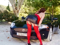 Best pornstar Eva Notty in fabulous striptease, outdoor adult video