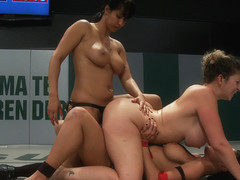 12th Vs 7th: 2 Big Titted Wrestlers Battle To Avoid Eliminationloser Fucked As Punishment In Rd4 -.