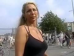 German slut gets a huge cumshot facial after sucking me