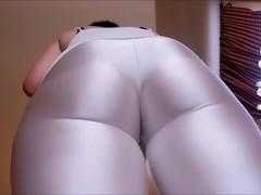 Spandex Angel - Shiny delight in white