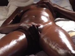 Oily real orgasm
