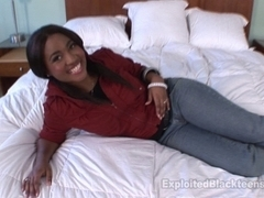 Darksome Legal Age Teenager w Wazoo likes Getting Screwed in Non-Professional Clip