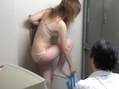 Suspicious Japanese hottie got strip-searched and fucked