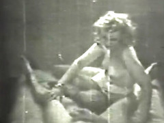 Vintage footage of a guy fucking a gorgeous blonde buxom beauty