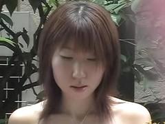 Brave sweet tart is wearing sexy white dress during sharking attack