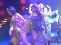 Oops, dancing girls caught upskirt by accident.