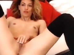 Camgirl AdeleLUV fingering pussy and ass