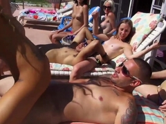 Exotic pornstar in Horny Group sex adult clip