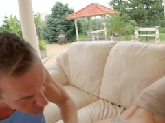 Anastasia Blonde getting a dick deep in ass for anal on Ass Traffic